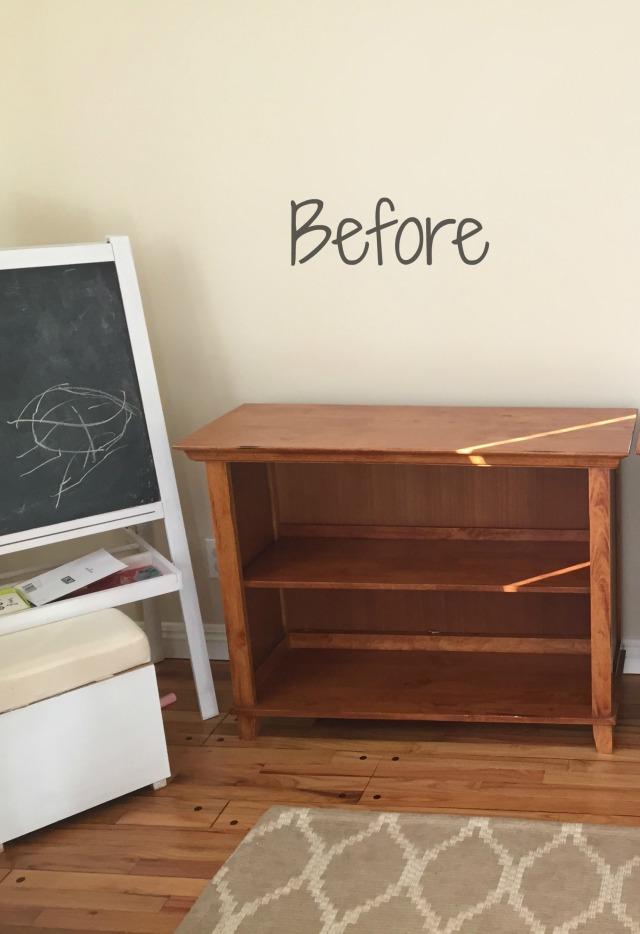 Book shelf before